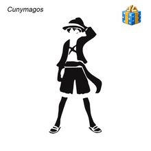 Cunymagos One Piece Luffy Anime Stiker Decor Vinyl Decals Mode Auto Motor Mobil Reflektif Stiker Mobil Styling 7.7*17 cm(China)