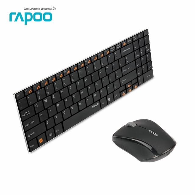 Оригинал Rapoo 9060 Мыши и Клавиатуры Установить Ультра Тонкий 2.4 Г Беспроводная Оптическая Клавиатура и Мышь Комбо для Портативных ПК