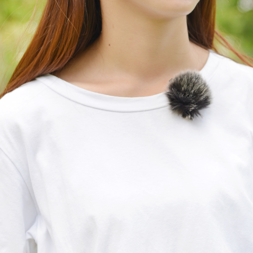 Lavalier Lapel Clip-on Microphone Fur Wind Muff Mic Windscreen Cover For Speech Meeting Black Electric Instrument Parts Access