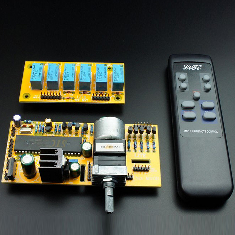 LTMV02 Dual Channel Remote Volume Kit (ALPS Motor Potentiometer) 9-12VAC gzlozone diy kit njw1194 remote volume conrol kit treble