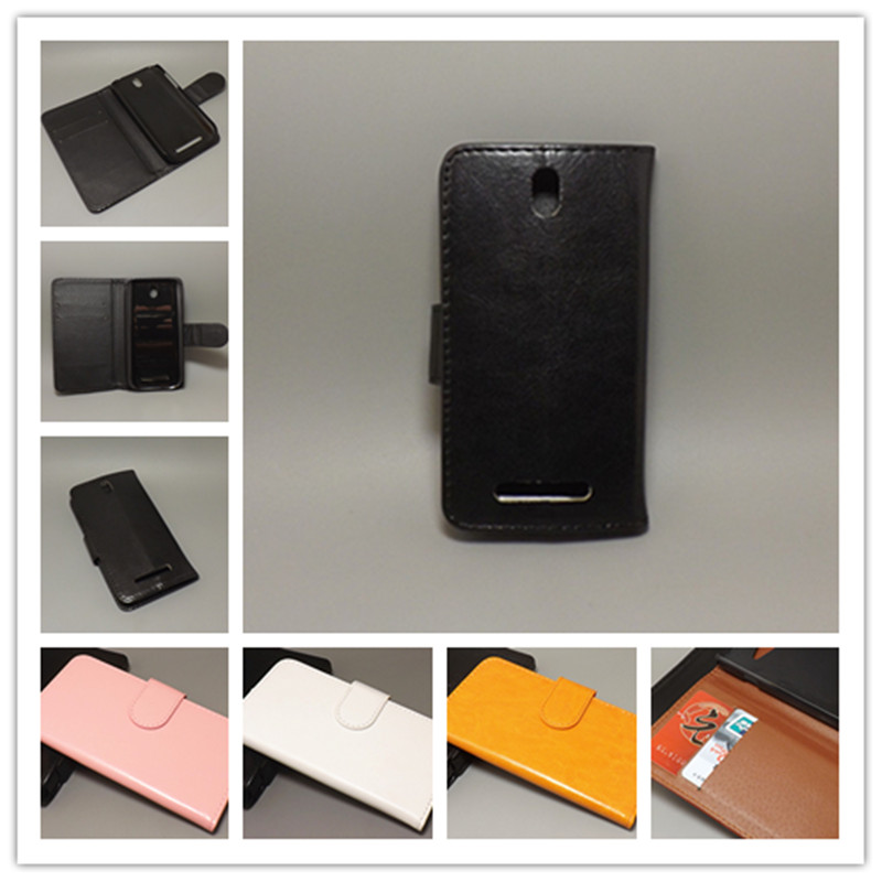 Multicolor Crazy horse wallet case hold two Cards with 2 Card Holder and pouch slot for HTC Desire SV T326E