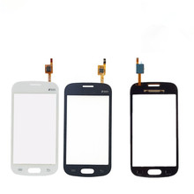 For Samsung Galaxy Ace 3 S7270 S7272 S7275 Touch Screen Digitizer Front Glass Replcement With Duos logo White Black Color