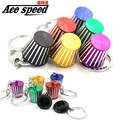 Ace speed-New Aluminum KN Cold Air Intake Filter key chain Lovely keychain key ring  7 colors JDM style nos