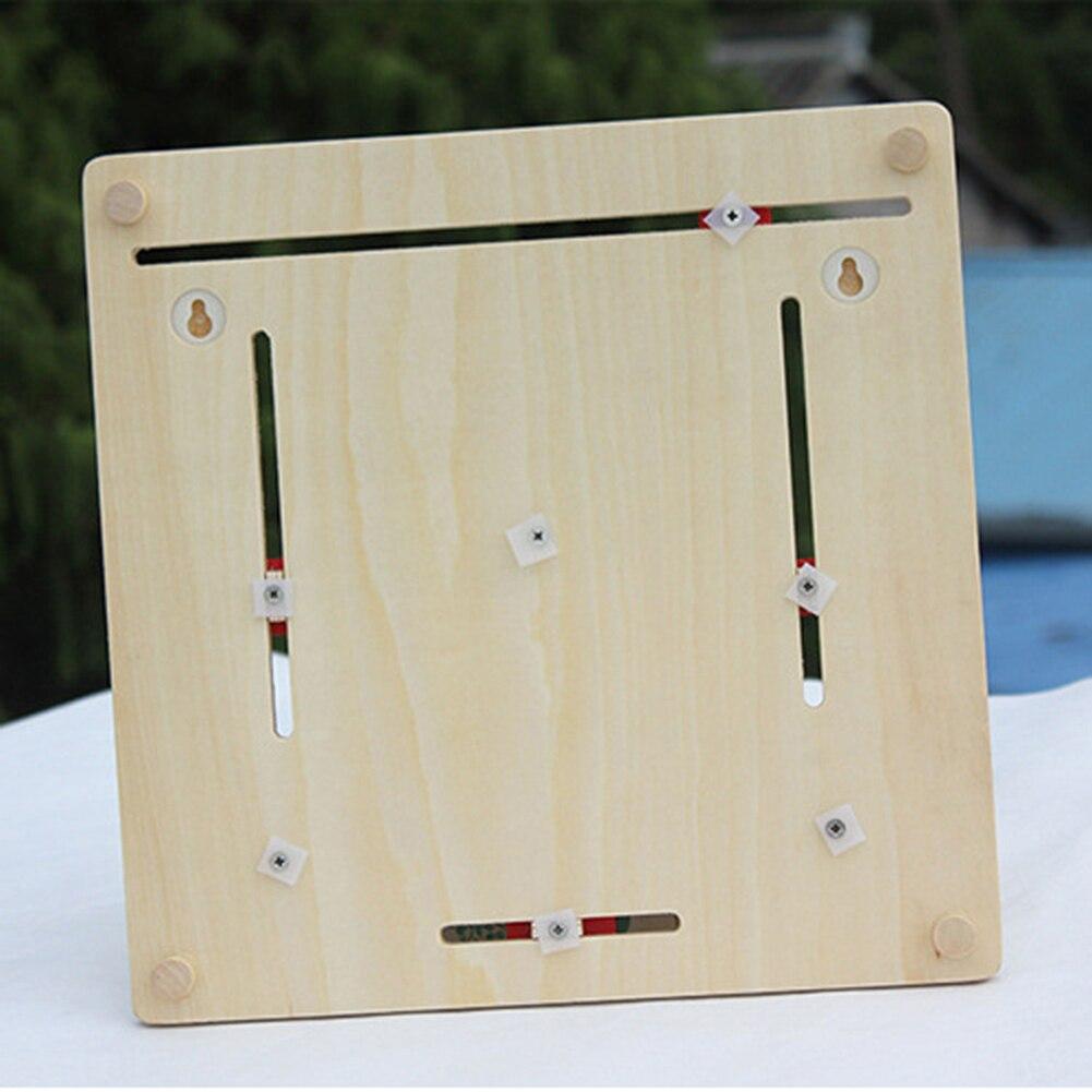 Moda de madeira calendário placa relógio de