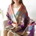 Новый 2015 дамы шарф высокое качество весна/лето 190*70 см национальный стиль печати кондиционер шаль бесплатно доставка