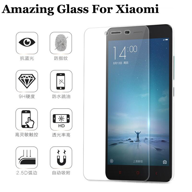 bf347a883 9H Tempered Glass Screen Protector For Xiaomi Redmi 2 Redmi 3 Note 2 Note 3  Mi4