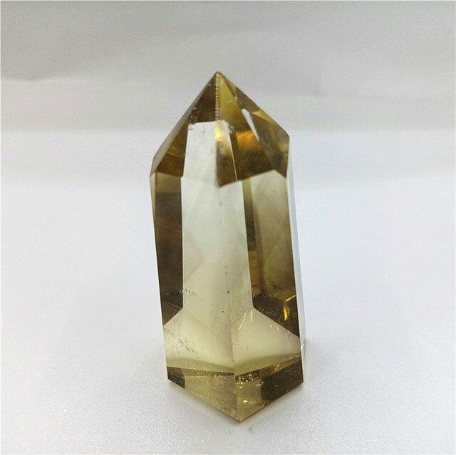 באיכות גבוהה גבישי סיטרין רייקי ריפוי POINT שרביט גביש קוורץ למתנה סיטרין טבעי נקודה 40 גרם
