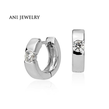 ANI 14k White Gold Women Circle Earrings 0.8 ct Certified I/S1 Diamond Fashion Gold Jewelry Customized for Wedding Engagement