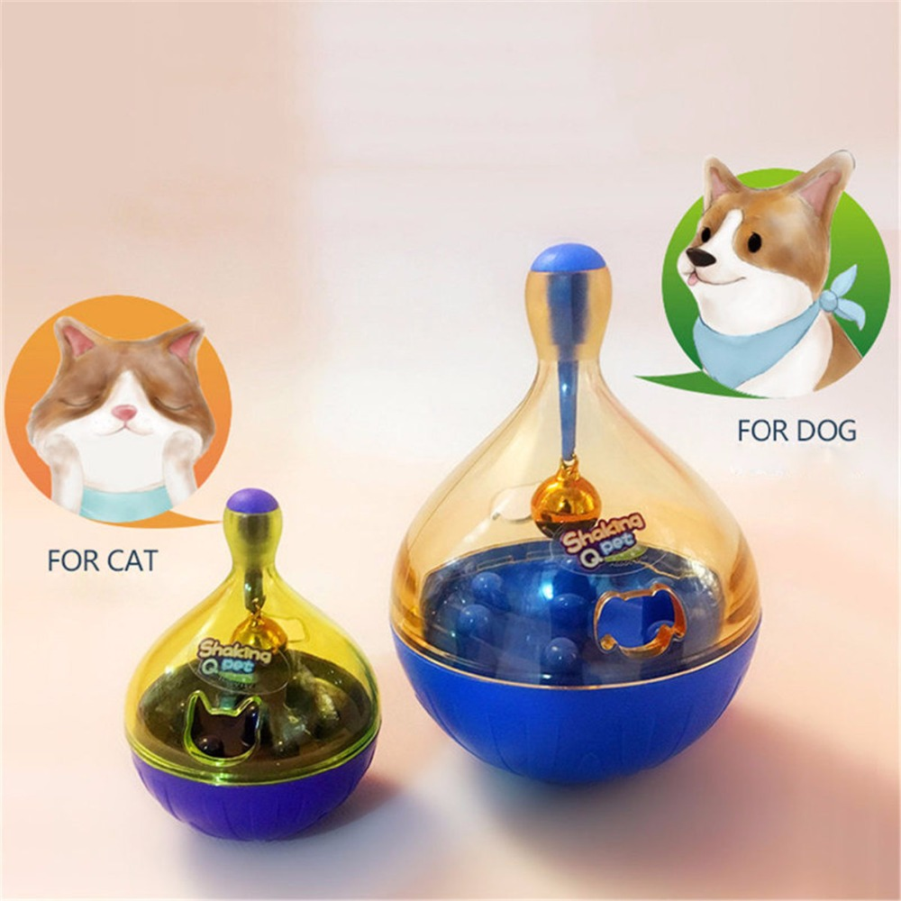 ABS Funny Pet Cat Dog Toy Tumbler Leakage Feeder Food Container Anti-depression Pets IQ Training Ball Toys For Dogs Cats