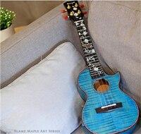 Enya цветок укулеле 5A Класс пламени клен тела концерт/тенор Гавайи Гитара 4 Строка 23 26 музыкальный инструменты профессионалов