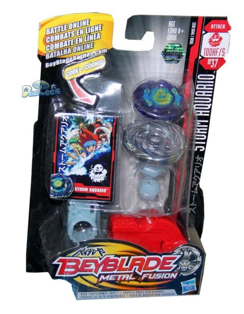 BB37 TOMY Beyblade Metal Fusion Storm Aquario-in Spinning