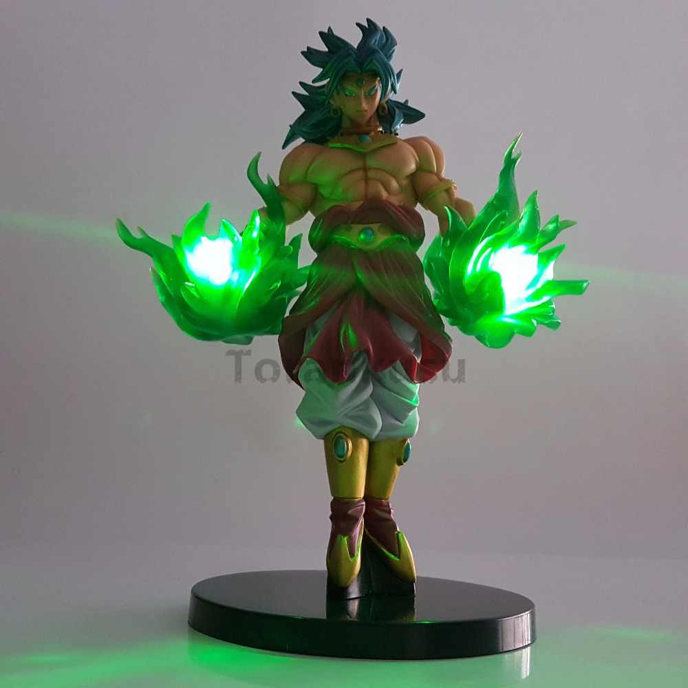 Dragon Ball Z Action Figures Toys Broly Green Power Anime Dragon Ball Super Broly Led Lights Model Toy Esferas Del Dragon