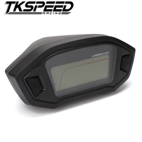 Free Shipping Universal Motorcycle LCD Digital Speedometer Odometer Backlight Motorcycle For 1 2 4 Cylinders