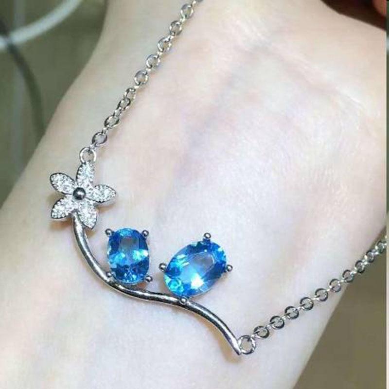 Здесь можно купить  2017 Qi Xuan_Blue Stone Simple Elegant Pendant Necklace_Real Blue Stone Necklace_Quality Guaranteed_Manufacturer Directly Sale   Ювелирные изделия и часы