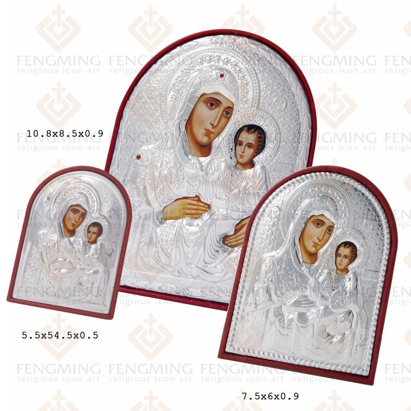 3vnt / rinkinys skirtingo dydžio ortodoksų piktogramų paveikslas: - Namų dekoras - Nuotrauka 2