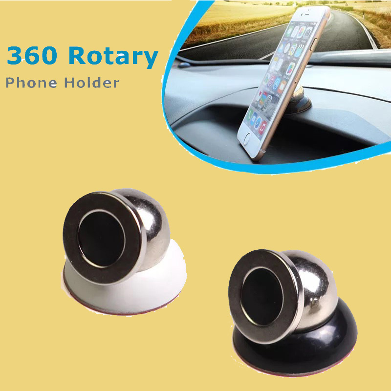 Small Mini Magnetic Car Holder for iPhone Samsung Xiaomi Rotating Magnet mobile Phone stand for iPhone 6 7 Car holder