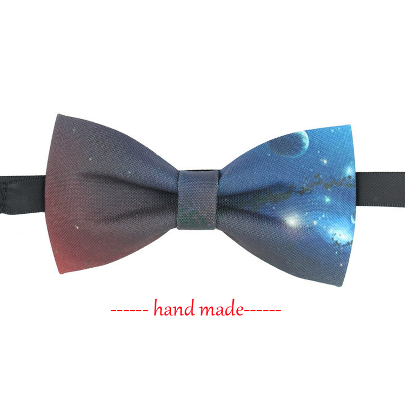 Fashion Galaxy Necktie Bow Tie Mens Womens Wedding Business Hand Made Galaxy Bow Tie Trendy High Quality Bowtie