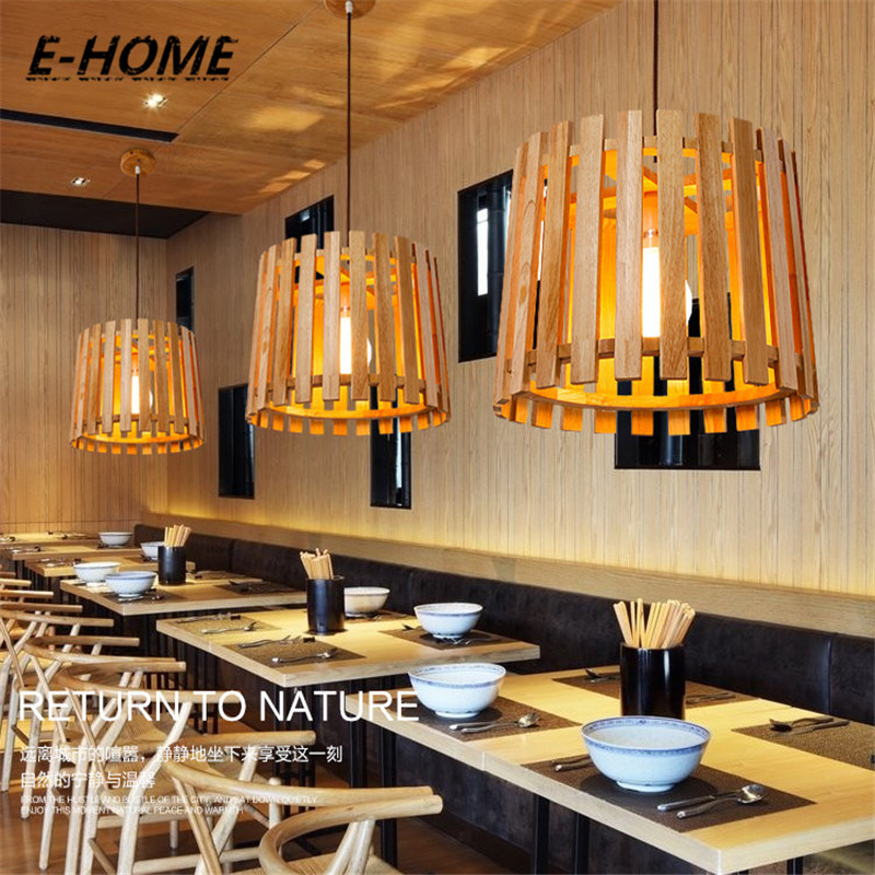 Designer models of modern solid wood hand carved logs of the Nordic simple wooden chandeliers