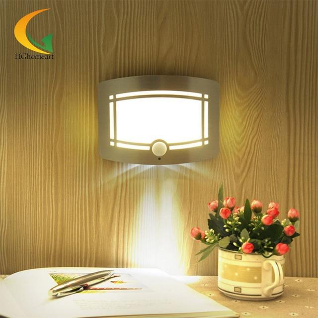 infrared Led sensor night light Wireless Infrared Motion Sensor Aluminum 0.7W Wall led 12v light night decorative lamp