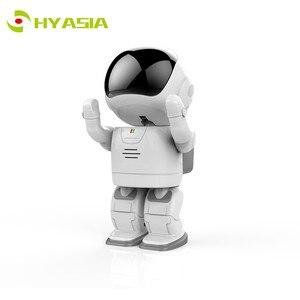 HYASIA 1080 p Câmera IP Robô Crianças Acompanham Robô Sem Fio Wifi Camera Baby Monitor com Áudio Bidirecional Day Night RI Cam Brinquedo