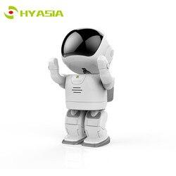 HYASIA 1080p IP Camera Robot Children Accompany Robot Wireless Wifi Camera Baby Monitor with Two Way Audio Day Night IR Cam Toy