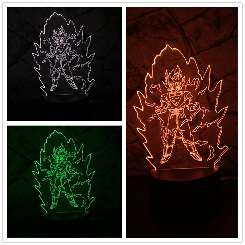 New 2018 Japan figure Seven Dragon Ball Sun Wukong Acrylic 3D lava Night Lights USB Leds Table Lamp Touch Control house 3d lamp 4pcs new for ball uff bes m18mg noc80b s04g