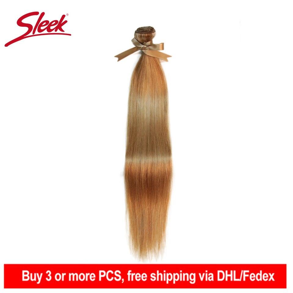 Sleek Remy Brazilian Hair Weave P27/613 P6/22 P8/22 Bundles 10-24 Inches Straight Human Hair Extension Blonde Hair Weave Bundles