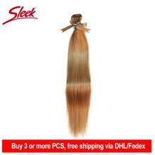 Sleek extensiones de cabello humano liso Remy brasileño, P27/613 P6/22 P8/22 mechones, 10 24 pulgadas, tejido pelo rubio mechones