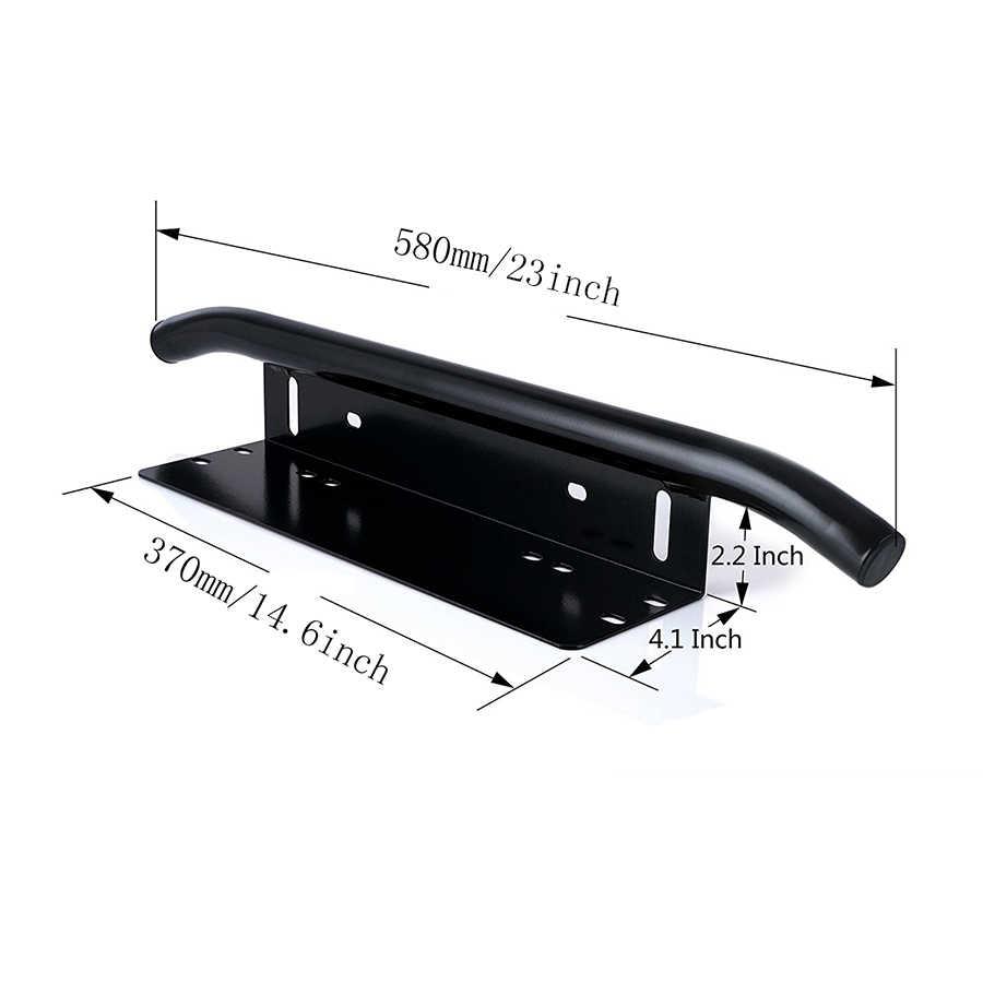 Auxtings 23 ''черный Серебряный алюминиевый Bull БАР передний бампер номерной знак Панель Крепления кронштейн для фар комплект для внедорожник мотовездеход 23 дюймов