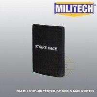 Militech 6 ''X 8'' 1 Pc Nij Iii + Bulletproof Side Plaat Al2o3 Nij Iii + Stand Alone ballistic Panel Esapi Voor AK47 & SS109 & M80