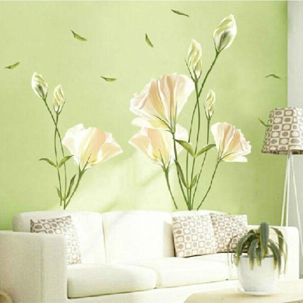 D Flowers Wall Decals PromotionShop For Promotional D Flowers - Yellow flower wall decals