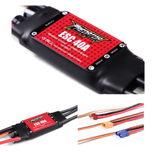 FMS Predator ESC 40A with 3A SBEC Speed Controller Brushless with T EC3 XT60 Plug 4S for RC Airplane Model Plane Spare Parts
