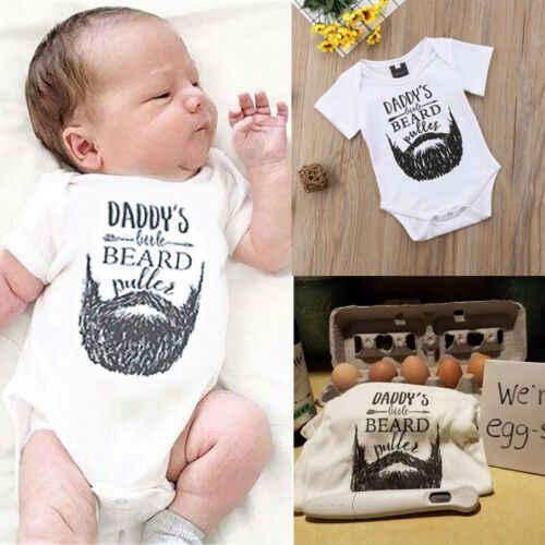 Baby Jongen Meisje Romper-PAPA BAARD-Pasgeboren Baby Kleding Babygrows 0-18M