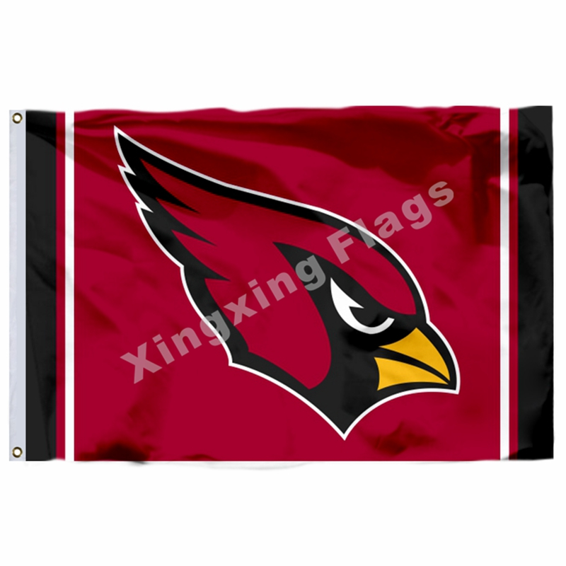 Arizona Cardinals Column Flag 3ft X 5ft Polyester NFL1 Arizona Cardinals Banner Flying Size No.4 144* 96cm Custom Flag