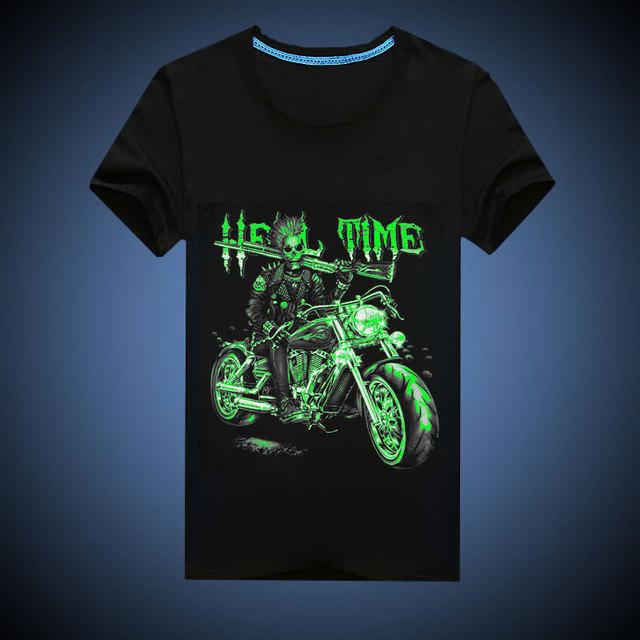 Nova marca de vestuário deadpool homens T - camisa impressão 3d luzes da noite O pescoço de manga curta homens roupas Hip Hop erkek t-shirt tamanho M-3XL