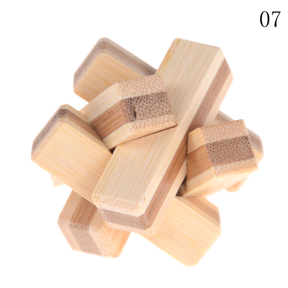 Kong Ming Luban Lock Kids Children 3D Handmade Wooden Toy Adult Intellectual Brain Tease Game Puzzle 13