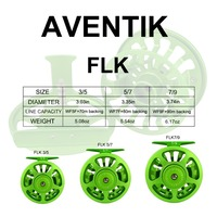 Aventik 2019 New Design Quality Fly Fishing Reel 3/5 5/7 7/9 Fly Reel Large Arbor Aluminum Fishing Reel Handle-Changed Reel