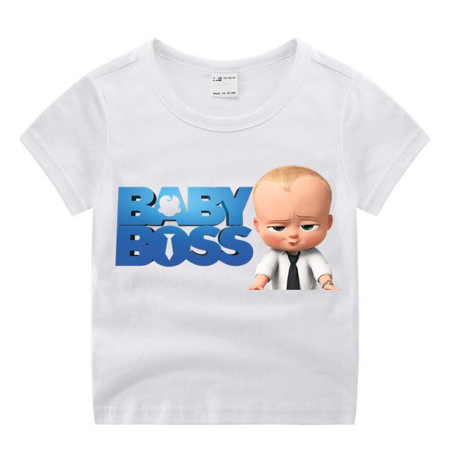 Girls Tshirt Tops Movie Boss Baby Boys Cartoon Funny Print Summer O-Neck