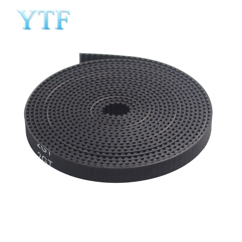 PU With Steel Core GT2 Black Color 2GT Timing Belt 6mm Width 2M Pack 3D Printer Parts