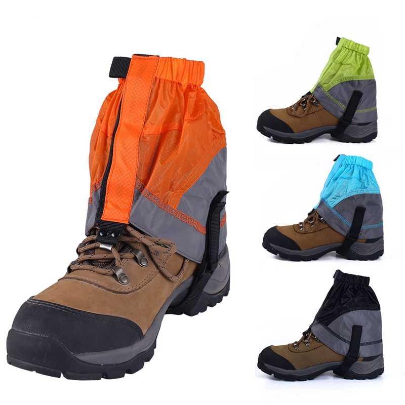 Pair Lightweight Waterproof Legging Gaiters Snow Cover Wrap Protector Climbing