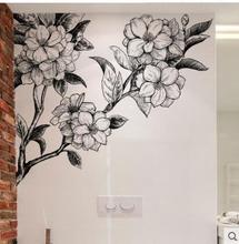 Waterproof adhesive can remove wall large hand-painted flowers sticker sitting room sofa background the study bedroom ad