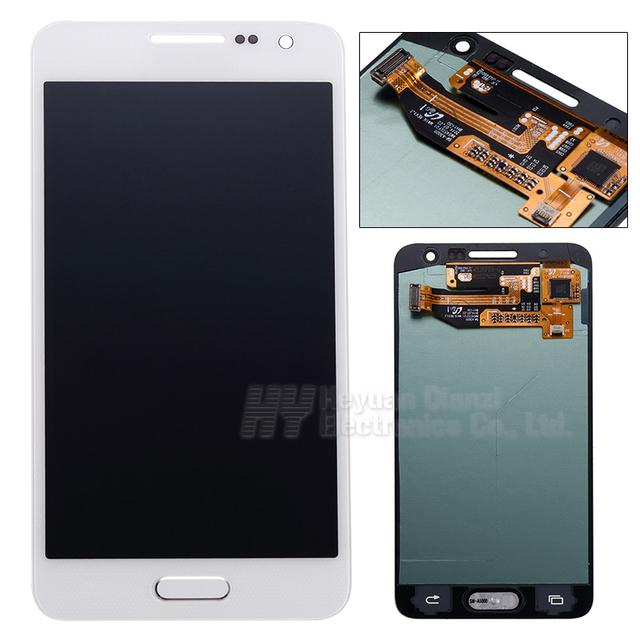 Comercio al por mayor 100% pantalla lcd digitalizador de pantalla táctil original para samsung galaxy a3 a300x a300 a300h a300f pantalla freeshipping
