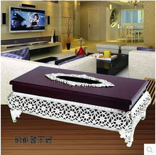 European goldor  silver plated   Luxury metal tissue  boxes wood napkin holder Home decoration, hotel decoration ZJH004
