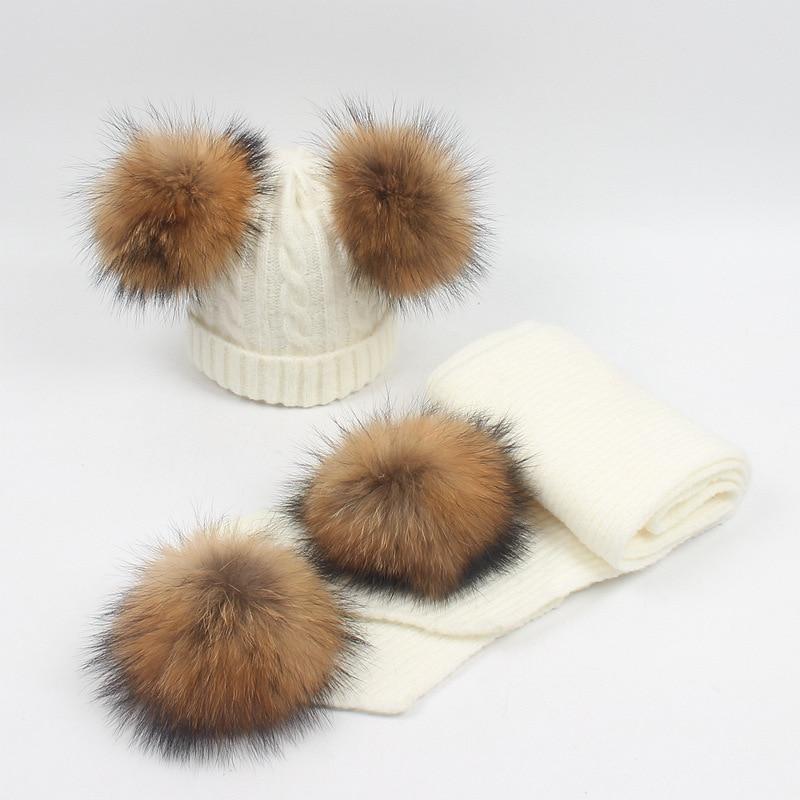 Wool Scarf Children's Suit Winter Warm Scarf 2018 Children Package Wrapped Luxury Ladies Winter Wool Scarf  Wool Scarfs