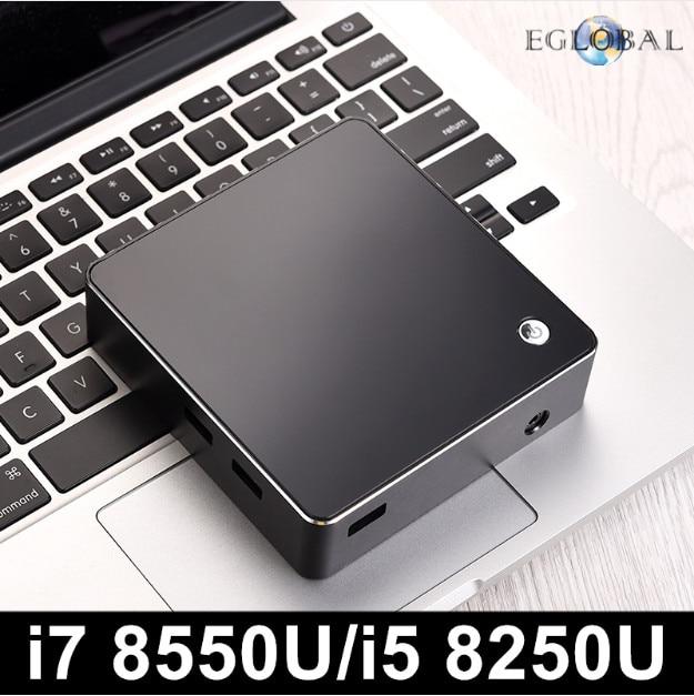 Eglobal New 8th Gen Intel Core i7 8550U i5 8250U Quad Core 8 Threads Nuc Mini