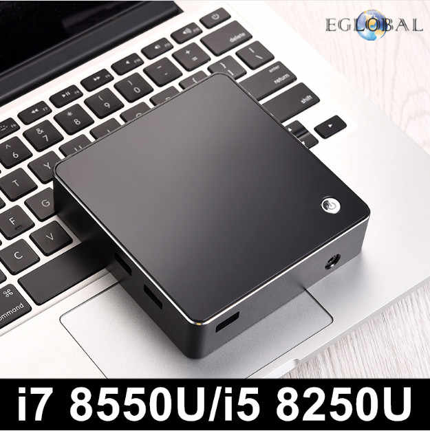 Eglobal Mới [8th Gen Intel Core I7 8550U i5 8250U Quad Core 8 Threads] NUC Mini PC Windows 10 DDR4 AC Wifi 4K HTPC HDMI Mini DP