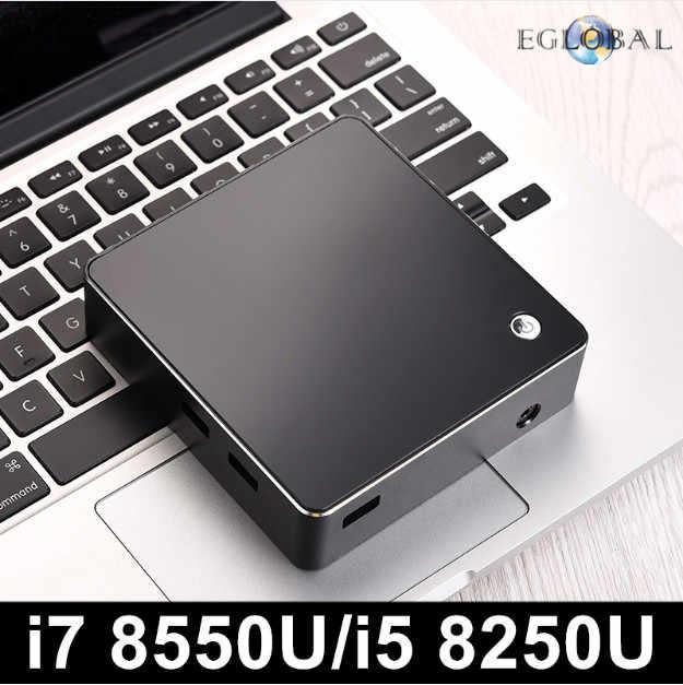 Eglobal جديد [8th الجنرال إنتل كور i7 8550U i5 8250U رباعية النواة 8 المواضيع] Nuc البسيطة PC ويندوز 10 DDR4 AC واي فاي 4K HTPC HDMI مصغرة موانئ دبي