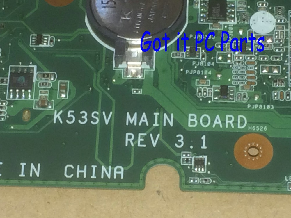 FREE SHIPPING +WORKING + NEW Laptop Motherboard for Asus K53SV REV : 3.1 MAIN BOARD WARRANTY 90 DAYS
