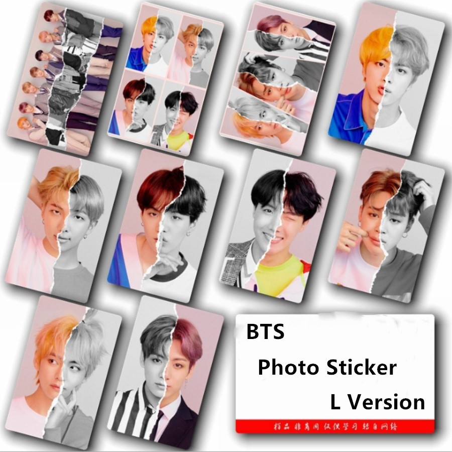Jewelry & Accessories Jewelry Findings & Components Ambitious Kpop Bts Love Yourself Answer L Version Sticky Photocard Bangtan Boys Card Sticker 10pcs/set Jimin V