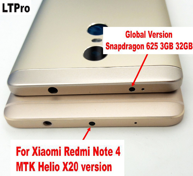 LTPro Battery Door for Xiaomi Redmi Note 4 Note4 NOTE 4X Rear Back Battery Cover Housing Cover + Volume Power Key Repair Parts